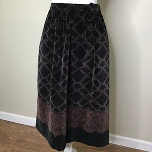 Vintage Bryn Connelly Velour Skirt